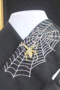 「蜘蛛の巣」刺繍半襟