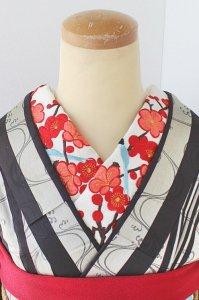 梅の競艶 刺繍半襟