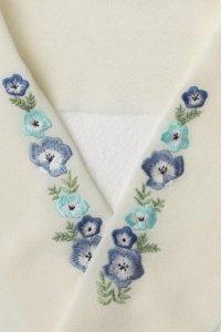 ネモフィラ刺繍半襟ショートサイズ