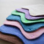 Chanbvre(シャンヴル)片面パイル地の防水布入りおお麻布ナプキンLサイズ(M676c) 純国産 ホリスティク 自然治癒力 オーガニック コットン present by 満月の布