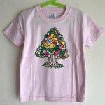 キッズTシャツ/Tree【ゆうメール対応】【麻世】ヘンプデニム巾着袋付き