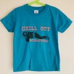 キッズTシャツ/ 寝そべる人【ゆうメール対応】【麻世】