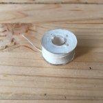 【ゆうメール対応】糸掛け曼荼羅などに満月の糸約30m透明ボビン仕様ヘンプ55%糸