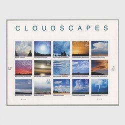 アメリカ 2004年雲景小型シート