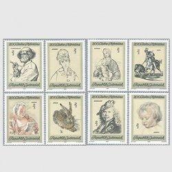オーストリア 1969年アルベルティーナのエッチングコレクション200年8種