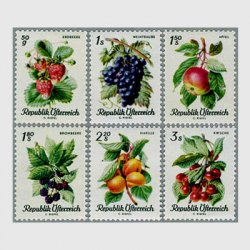 オーストリア 1966年果物6種
