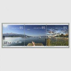 スイス 2016年湖3種連刷