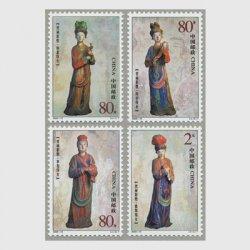 中国 2003年晋祠彩塑4種(2003-15T)