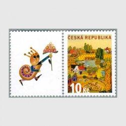 チェコ共和国 2008年Pスタンプ サマーディタブ付き