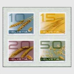 スイス 2008年普通切手穀物4種