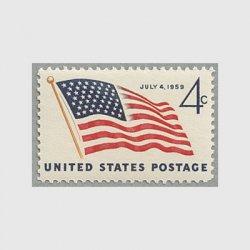 アメリカ 1959年星条旗(49星)