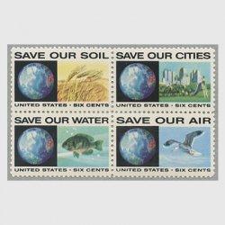 アメリカ 1970年公害反対運動4種連刷