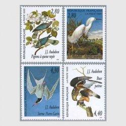 フランス 1995年鳥類学者オーデュボン4種