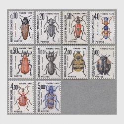 フランス 1982-83年不足料切手 昆虫シリーズ10種