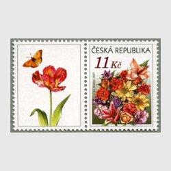 チェコ共和国 2007年花束タブ付き