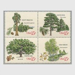 アメリカ 1978年樹木シリーズ4種連刷