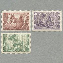 フィンランド 1953年ヨーロッパアカリスなど3種