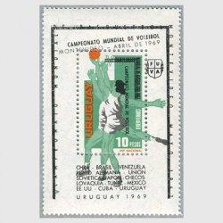 ウルグアイ 1969年モンテヴィデオバレーボール世界大会小型シート