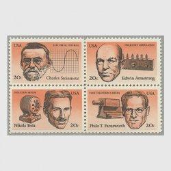 アメリカ 1983年発明家4種連刷