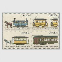 アメリカ 1983年路面電車4種連刷