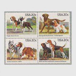 アメリカ 1984年犬4種連刷