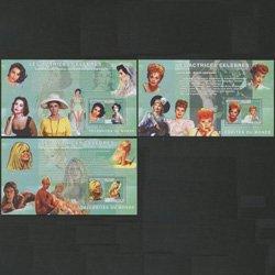 コンゴ民主共和国 2006年女優小型シート3種