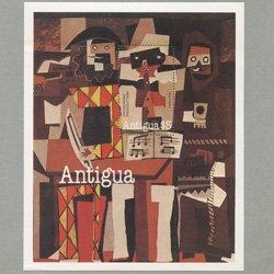 アンティグア 1981年ピカソ画「3人の音楽師」小型シート