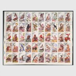 アメリカ 1987年野生動物シート初日印付き※少難品