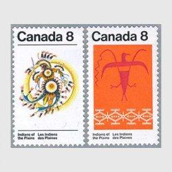 カナダ 1972年インディオの芸術2種
