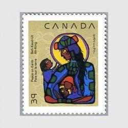 カナダ 1990年インデイアンアートの「マリアとキリスト」