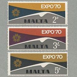 マルタ 1970年大阪万博3種