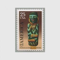 アメリカ 1989年木彫りのインディアン