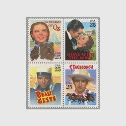 アメリカ 1990年ハリウッド名画切手タトウ付き