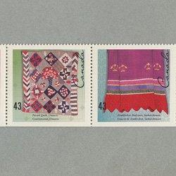 カナダ 1993年手織物5種連刷
