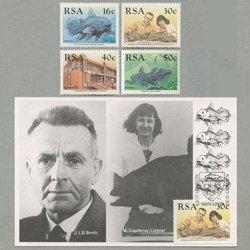 南アフリカ 1989年シーラカンス4種とマキシムカードセット