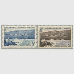 仏領南方南極地方 1956年ニューアムステルダム2種