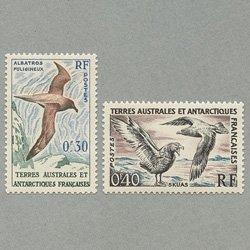 仏領南方南極地方 1959年ハイイロアホウドリなど2種