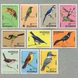ニカラグア 1971年鳥10種
