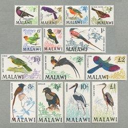 マラウィ 1968年鳥14種