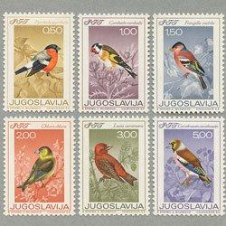 ユーゴスラビア 1968年鳥6種