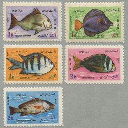 イラン 1973年魚5種