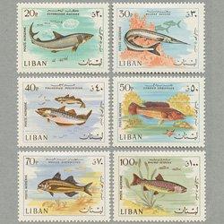 レバノン 1968年魚6種