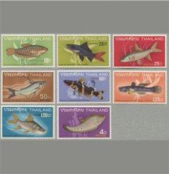 タイ 1968年淡水魚8種