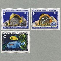 ニューカレドニア 1973年熱帯魚3種