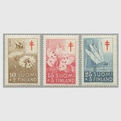 フィンランド 1954年複十字切手 昆虫3種
