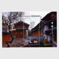 中国マカオ 2008年中国大陸風景2次・小型シート
