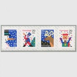 アメリカ 1993年クリスマスコイルペーン(シール式)