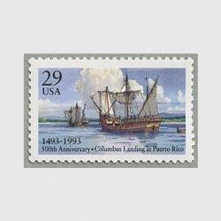 アメリカ 1993年コロンブスのプエルトリコ到着