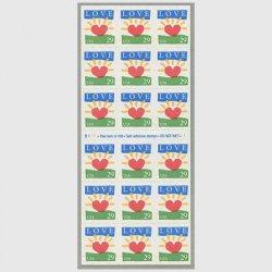 アメリカ 1994年LOVE 光るハート切手帳