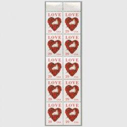 アメリカ 1994年LOVE バラとハト切手帳ペーン